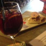 Sangria - expensive, pork panini was awful