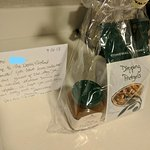 Personal Note and Welcome Basket