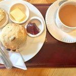 Yummy cream tea with cream and jam