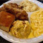 My plate..Have Mercy goodness! Corn pudding Very sweet, but all delicious