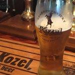 Nice cold pint of Kozel beer.