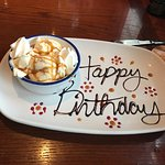 A neat birthday touch to a great meal and great service!