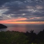 view of sunset from Casa de Frutas