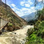 Crossing the Colca river