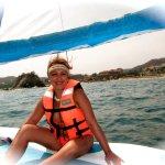 Disfrutando el paseo en velero