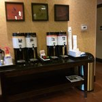 coffee area by front desk