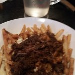 Short rib, brown gravy, cheese poutine appetizer