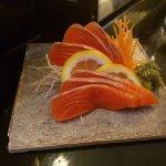Sockeye salmon sashimi