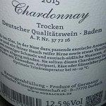 Este Chardonnay bávaro (de Durbach), excelente