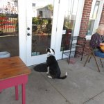 Outside seating...