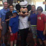 Our family with Mickey Mouse. It's a fun time visiting with the different characters.
