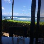 View from an inner table at The Beach House Restaurant in Poipu, Kauai, Hawaii.