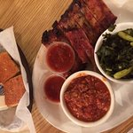 All you can eat ribs with greens and brunswick stew