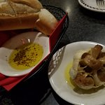 Baked Garlic, Olive Oil & Herbs and yummy, crusty bread