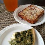 Spinach Feta Quiche and Bostock pastry