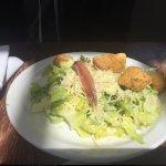 Caesar salad, homemade croutons