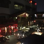 View from our room to the inner courtyard at night