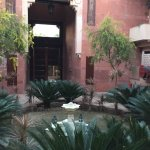 The little courtyard our room was situated in.