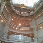 Shot taken from the bottom floor of Neiman Marcus looking up to the glass ceiling.