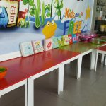 Children's dining area for breakfast buffet was fun,... for the kids.