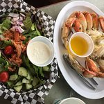 Crab Dinner with salad