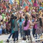 Girls dancing on Patriotic Songs.
