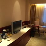 Great view, grand lobby, spacious room, bathroom design needs improvement, compliment to the bel
