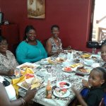 Dining with my family and friends