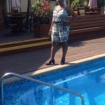Photoshoot at the pool area
