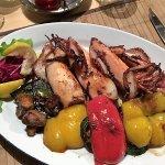 Grilled Calamari with veggies