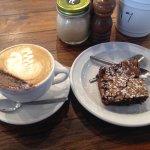 Coffee and chocolate brownie