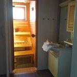 Douche à l'italienne + sauna privé