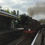 At Corfe Castle station