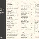 New menu launching Thurs 20th April