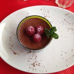 Mousse chocolat gingembre et framboise