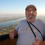 Balloon ride over Luxor Egypt with Hal Schmidt
