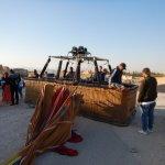 Landing the Balloon ride over Luxor Egypt