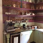 Kitchen area. Tea & coffee facilities. Honesty bar.