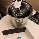 Champagne et chocolats offerts à notre arrivée dans la chambre