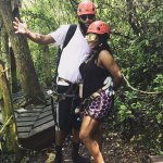 Zip lining with my BF.. We will always remember this experience.
