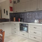 Grace's kitchen with superb AEG appliances.