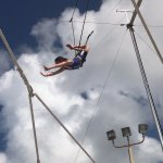My youngest on the trapeze.