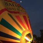 Inflating the ballon before take off