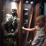 The 4-yr old found the skeleton a bit creepy.