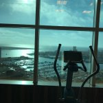 Water club - exercise room with a view