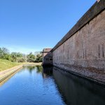 Exterior and moat