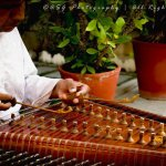 Santoor player in the morning