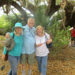 Diana,Ted and Teresa in front of banyan tree