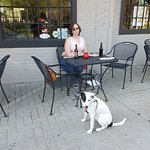 Outside seating for 4 legged guest.
