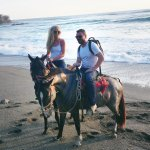 Horseback riding as part of the hotel package